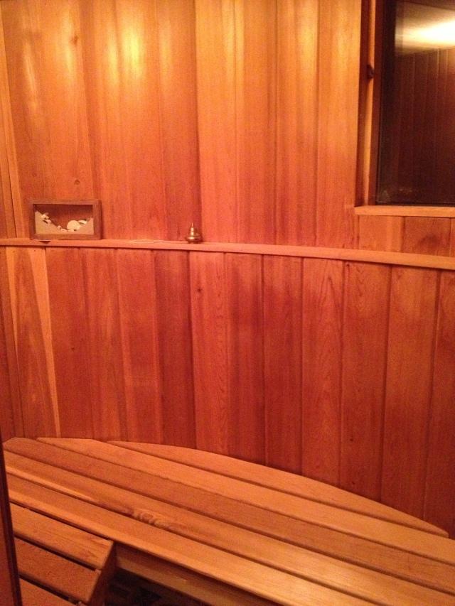 Saunna inside
